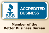BBB Accredited Business -- Member of the Better Business Bureau