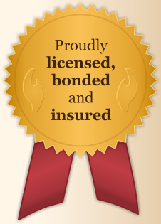Proudly licensed, bonded and insured